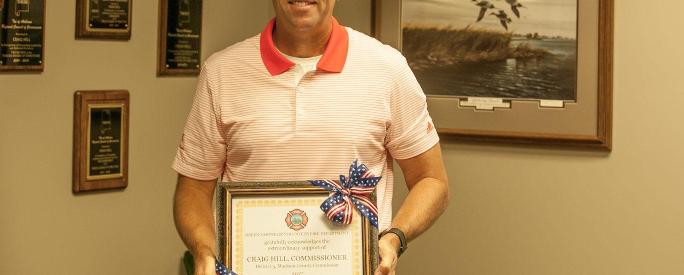 Craig Hill Receives Award